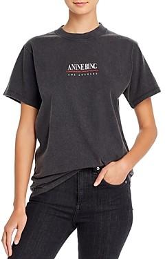 Anine Bing Lili Cotton Logo T-Shirt