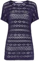 Diane von Furstenberg Pennie Pointelle Knit Sweater