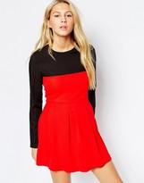 Wal G Long Sleeve Skater Dress