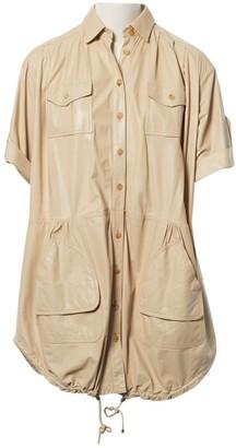Christian Dior Beige Leather Dresses