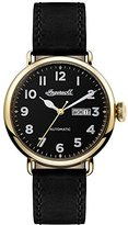 Ingersoll Men's The Trenton Automatic Watch with Black Dial and Black Leather Strap I03401
