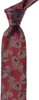 Canali Red Paisley Silk Tie