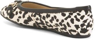 Comfort Leopard Print Haircalf Ballet Flats