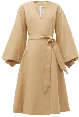 Merlette New York Sian Tie-waist Cotton Coat - Womens - Brown