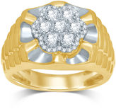 FINE JEWELRY Mens 1 CT. T.W. Diamond 10K Yellow Gold Ring