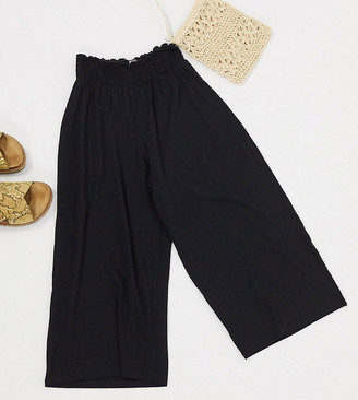 ASOS DESIGN Petite culotte pant with shirred waist