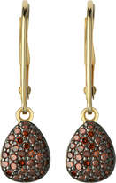 Links of London Hope 18ct yellow-gold and cognac diamond earrings