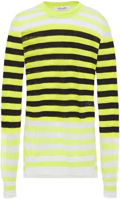 Diane von Furstenberg Striped Linen-blend Sweater