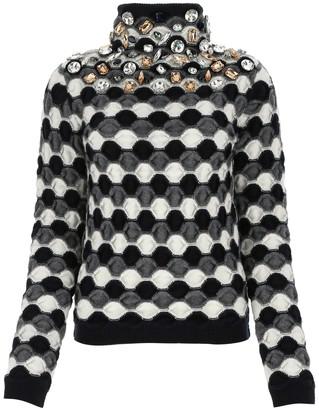 Loewe Rhinestoned High Neck Sweater