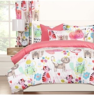 Crayola Purrty Cat 6 Piece Queen Luxury Duvet Set Bedding