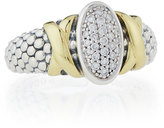 Lagos Diamond Lux Pave Oval Ring, Size 7