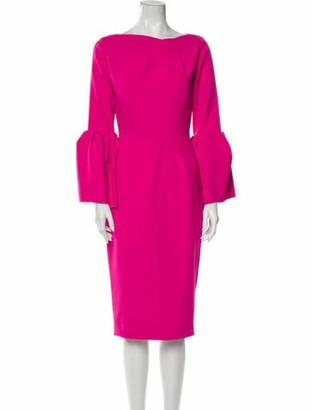 Roksanda Bateau Neckline Midi Length Dress Pink