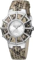 Roberto Cavalli Women's RV2L009L0016 WEBBING Diamond Stainless Steel Cream Leather Watch