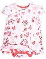 Baby Flower Shower Organic Cotton Bodysuit Dress
