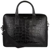 BOSS Croc Print Briefcase Bag