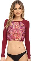 Billabong Women's Gypsy Dream Crop Long Sleeve Rashguard