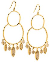 Gorjana Eliza Gem Chandelier Earrings
