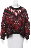 Mara Hoffman Abstract-Patterned High-Low Sweater
