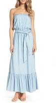 BB Dakota Women's Kate Convertible Strapless Chambray Maxi Dress