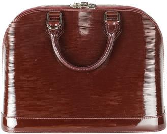 Louis Vuitton Brown Epi Patent Leather Alma PM Bag