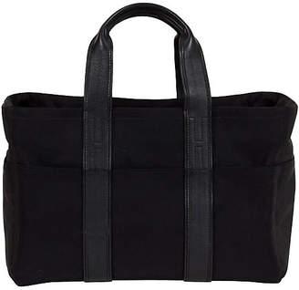 One Kings Lane Vintage Large Hermes Leather & Nylon Handbag - Vintage Lux