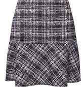 Dorothy Perkins Womens Black and White Check Print Peplum Mini Skirt