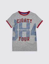 Marks and Spencer Cotton Rich Printed T-Shirt (3-14 Years)