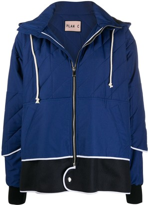 Plan C Hooded Bomber Jacket