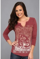 Lucky Brand Indian Tiger Tee (Biking Red) - Apparel