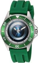 Marvel Men's 'Captain America' Quartz Stainless Steel and Rubber Casual Watch, Color: (Model: WMA000012)