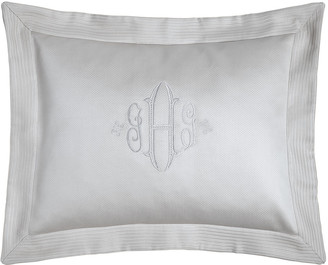 Peacock Alley King Angelina Pique Sham with Script Monogram