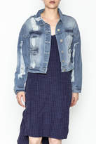 POL Cropped Denim Jacket