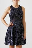Hommage Sequin Mesh Dress