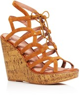 Joie Larissa Caged Lace Up Platform Wedge Sandals - 100% Exclusive