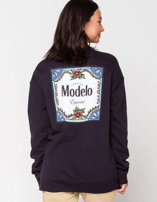 Ripple Junction Modelo Womens Crew Sweatshirt