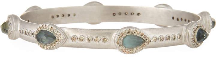 Armenta New World Thin Pear Triplet Bracelet