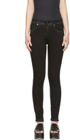 R 13 Black Coated High-rise Jeans