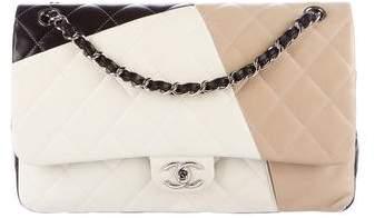 Chanel Tricolor Classic Jumbo Double Flap Bag