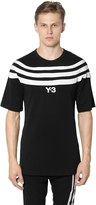 Y-3 3 Stripes Cotton Jersey T-Shirt