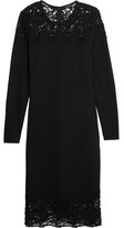 Magaschoni Lace-Paneled Stretch-Ponte Dress