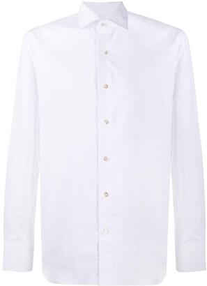 Boglioli Cutaway Collar Long-Sleeved Shirt