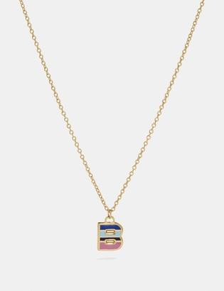 Coach 80'S Retro Alphabet B Charm Necklace