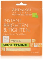 Andalou Naturals Instant Brighten & Tighten Hydro Serum Facial Mask, 0.6 Fluid Ounce