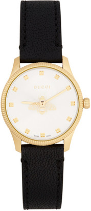 Gucci Black and Gold G-Timeless Bee Watch
