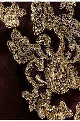 La Perla Maison Bordeaux Red Silk Satin Slip With Frastaglio