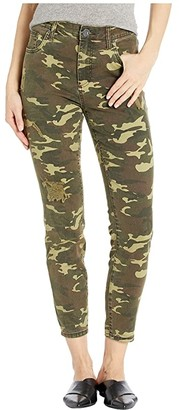 KUT from the Kloth Connie High-Rise Ankle Skinny Regular Hem in Olive (Olive) Women's Jeans