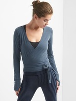 Gap Breathe barre wrap crop top