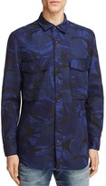 G Star Camo Print Regular Fit Button-Down Shirt