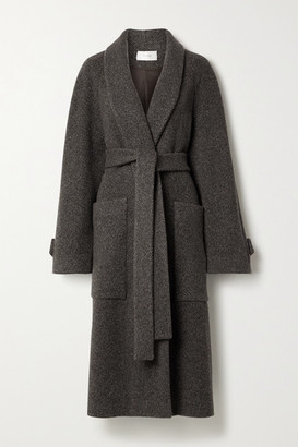 The Row Fiera Belted Wool-jacquard Coat - Gray