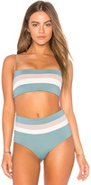 L-Space Rebel Stripe Bandeau in Slate. - size M (also in S,XS)